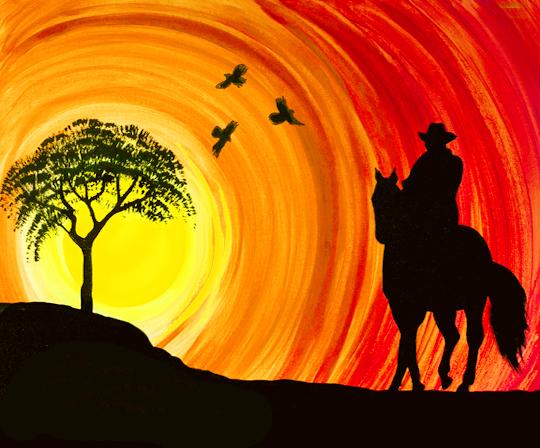 Sunset Cowboy 1b
