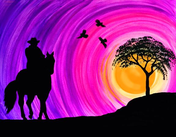 Sunset Cowboy 1c