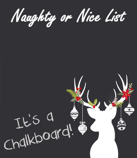 Reindeer chalkboard canvas 1