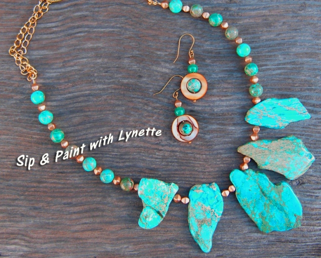 Turquoise necklace for class