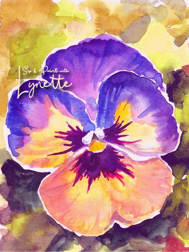 Pansy watercolour 1