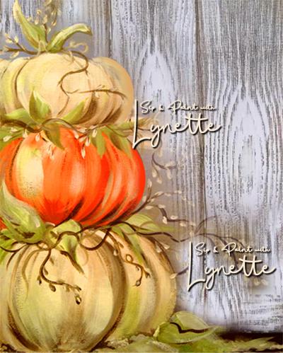 Pumpkin stack wood