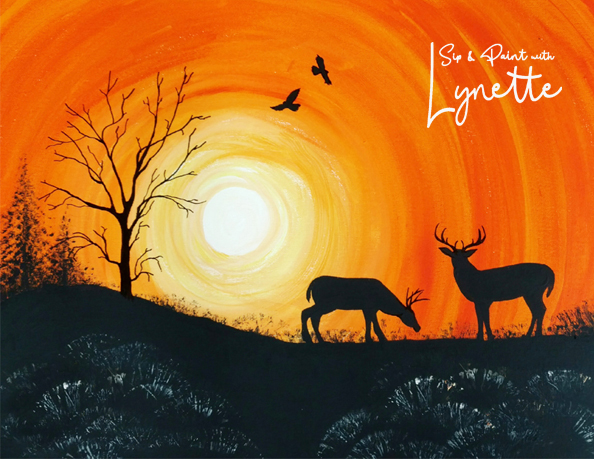 Sunset Deer 2