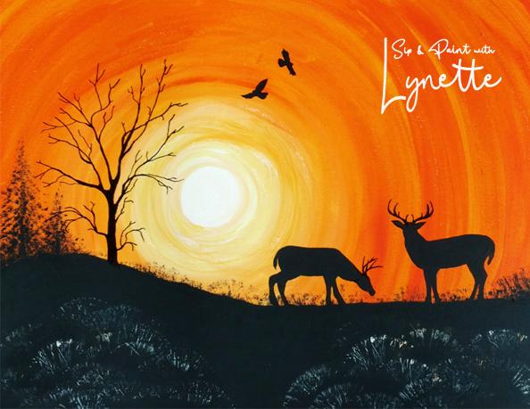 Sunset Deer 2