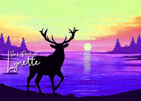 deer sunset 1